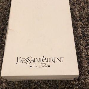 Yves Saint Laurent mid calf bootie